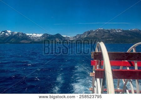 Lake Tahoe Is A Large Freshwater Lake In The Sierra Nevada. It Straddles The State Line Between Cali
