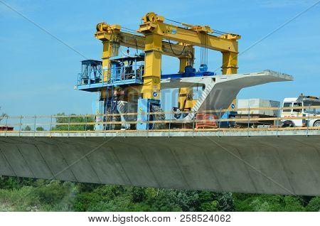 View Of Construction Motorway Bridge, Motorway A23, Italy