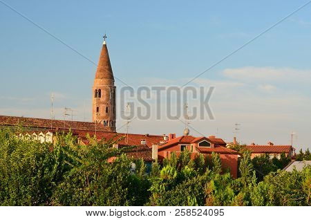 The Main Art Gem Of Caorle Is The Dome Of 1038 With Its Cylindrical Bell Tower Conical Peak, Caorle,