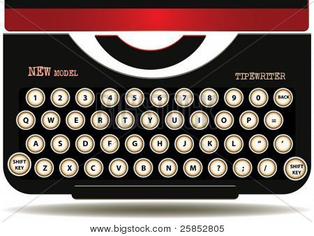VECTOR Old Typewriter Keyboards