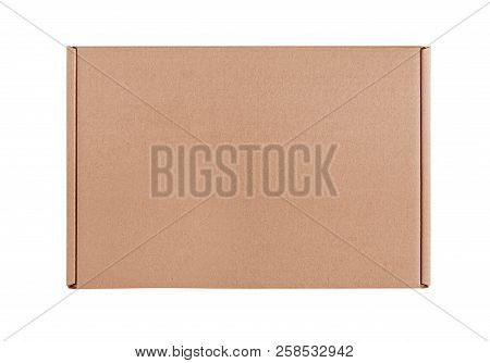 Cardboard Box On White. Cardboard Box Isolated On A White Background