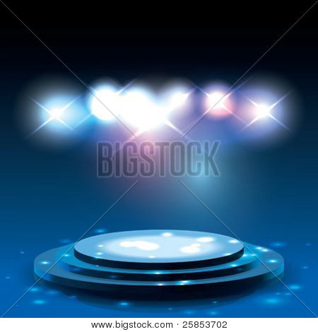Vector Stage with sparkles