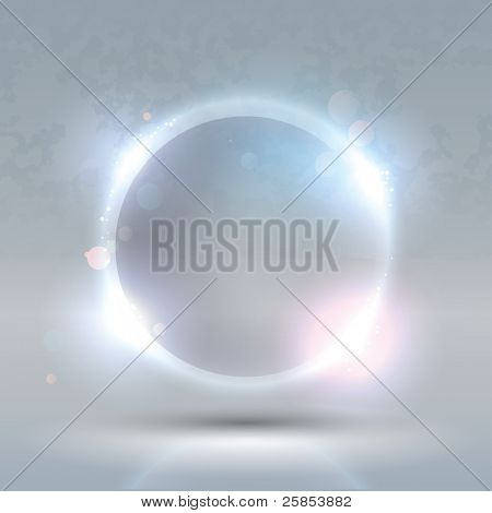 Raster Version of Glass Glossy Sphere. Abstract Background
