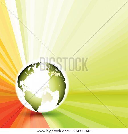 Raster Version of Glow Globe With Sun Rays