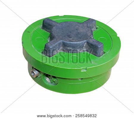 The Small Anti-personnel Mine On White Background
