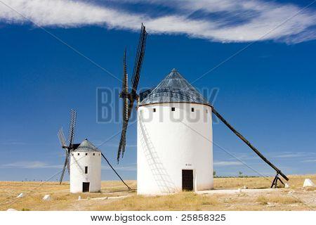 windmills, Campo de Criptana, Castile-La Mancha, Spain poster