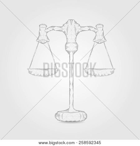 Law Concept With Polygonal Law Scale Vector Illustration