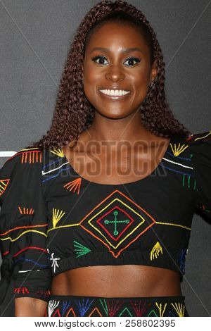 LOS ANGELES - SEP 13:  Issa Rae at the Audi Pre-Emmy Party at the La Peer Hotel on September 13, 2018 in West Hollywood, CA