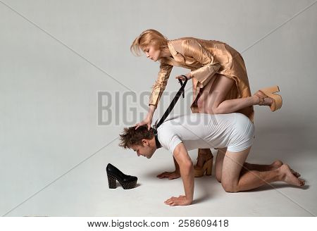 Sexy Lady On Top. Bondage And Discipline. Dominate Obey Undress Seduce A Partner. Thematic Bdsm. Obe