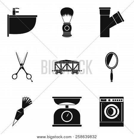 Work Task Icons Set. Simple Set Of 9 Work Task Icons For Web Isolated On White Background