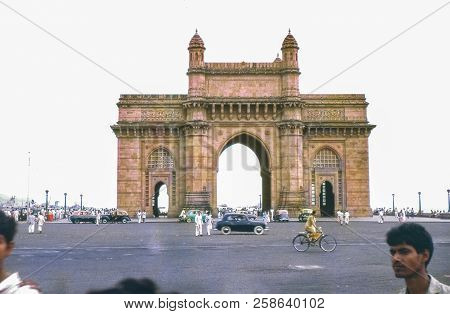 Bombay, India - Circa 1962: Vintage Photo Of The Gateway Of India, An Arch Monument Built In Bombay,