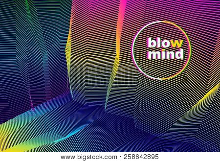 Vector Illusive Surreal Art Background For Design Like A Hallucination Drug Trip Surrealism, Linear