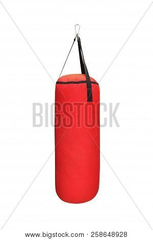 Image Of Red Boxing Pear Isolated On White Background