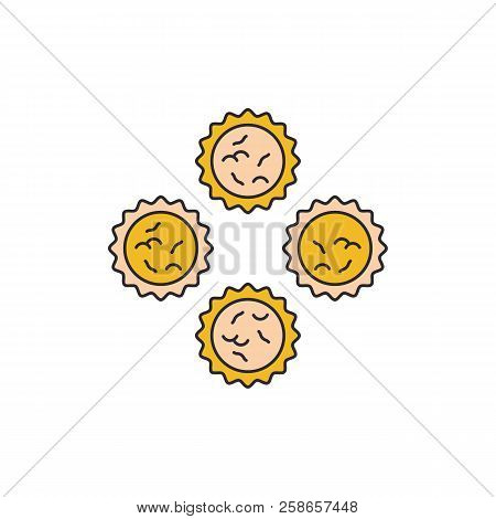 Butter Tarts Icon. Cartoon Butter Tarts Vector Icon For Web Design Isolated On White Background
