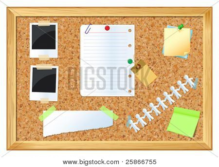 vector illustration of Pin board
