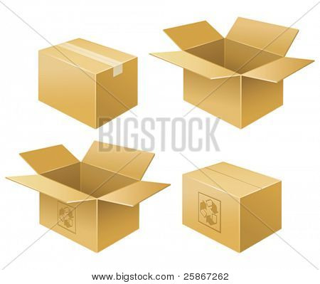 vector illustration of box