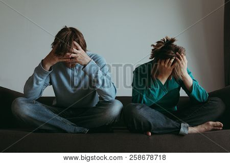 Stressed Couple -problems, Stress, Depression, Financial Problems