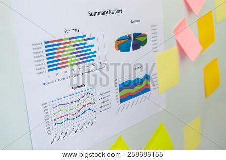 Business Chart Report On Meeting White Board