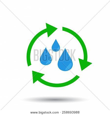 Water cycle icon. Flat vector illustration . Business abstract pictogram. poster