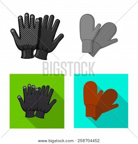 Isolated Object Of Glove And Winter Icon. Set Of Glove And Equipment Stock Vector Illustration.