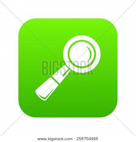 School Loupe Icon Green Isolated On White Background