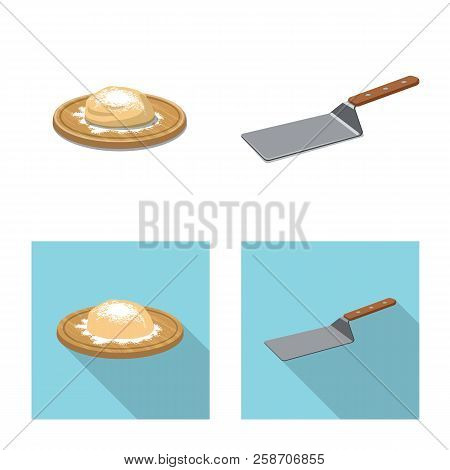 Vector Illustration Of Pizza And Food Logo. Set Of Pizza And Italy Stock Vector Illustration.
