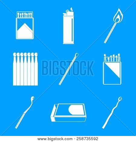 Safety Match Ignite Burn Icons Set. Simple Illustration Of 9 Safety Match Ignite Burn Vector Icons F