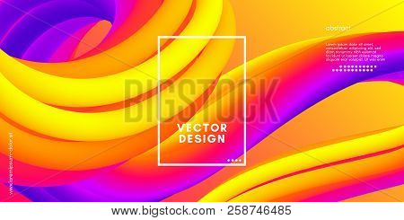 Colorful Liquid Shapes. Vector 3d Poster. Modern Color Wave Liquid. Abstract Background With Vibrant