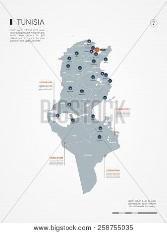 Tunisia Map Borders, Vector & Photo (Free Trial) | Bigstock