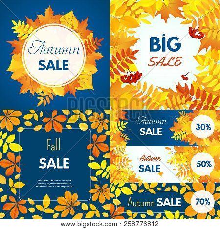 Final Autumn Sale Banner Set. Flat Illustration Of Final Autumn Sale Vector Banner Set For Web Desig