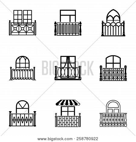 Porch Icons Set. Simple Set Of 9 Porch Vector Icons For Web Isolated On White Background