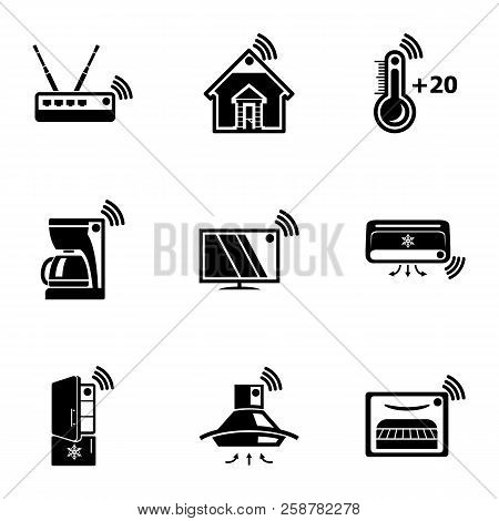 Wifi Home Icons Set. Simple Set Of 9 Wifi Home Vector Icons For Web Isolated On White Background