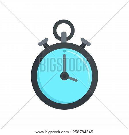Contraceptive Stopwatch Icon. Flat Illustration Of Contraceptive Stopwatch Vector Icon For Web Desig
