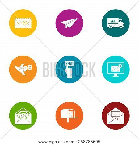 Submit Icons Set. Flat Set Of 9 Submit Vector Icons For Web Isolated On White Background