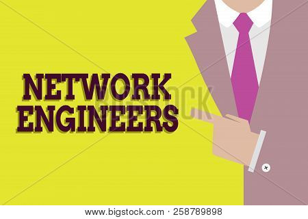 Handwriting Text Network Engineers. Concept Meaning Technology Professional Skilled In Computer Syst