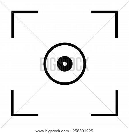 Auto Focus Camera Icon On White Background. Flat Style. Auto Focus Sign.  Auto Focus Symbol.