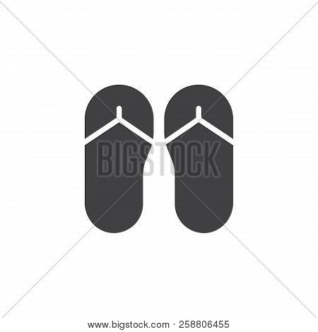 78fa9f70ff775a Flip flops vector icon. filled flat sign for mobile concept and web design.  slippers simple solid icon. Symbol
