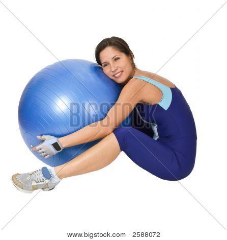 Hugging The Gym Ball
