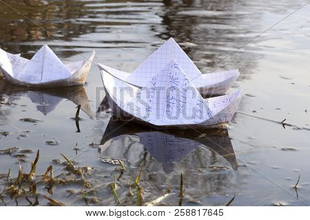 Origami Paper Ships Image Photo Free Trial Bigstock