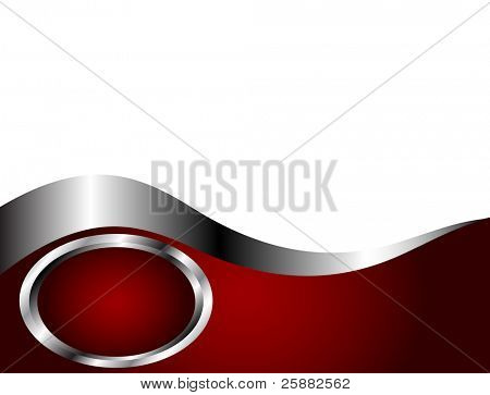 A deep red,Silver and white Business card or Background Template