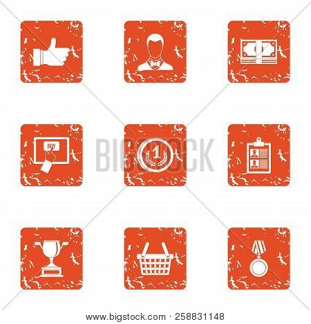 Best Banker Icons Set. Grunge Set Of 9 Best Banker Icons For Web Isolated On White Background