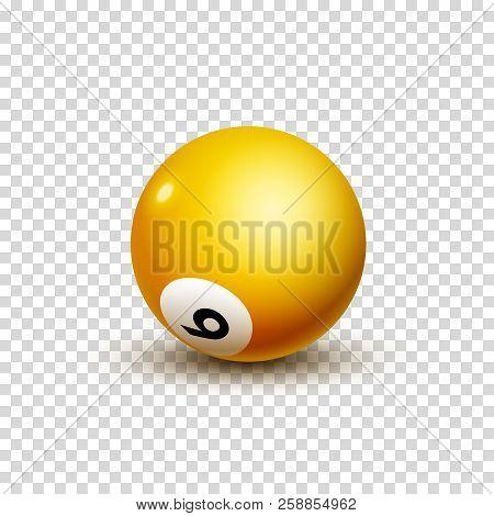 Billiard Ball Number Isolated. Round Billiard Ball Pool Game Leisure.