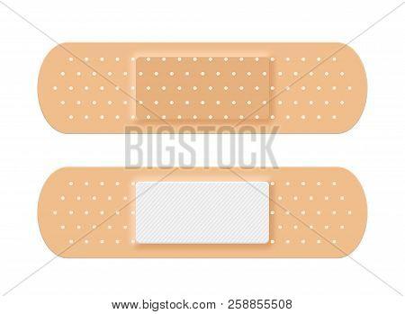 Adhesive Medical Plaster Strip Bandage. Medical Patch Aid Strip.