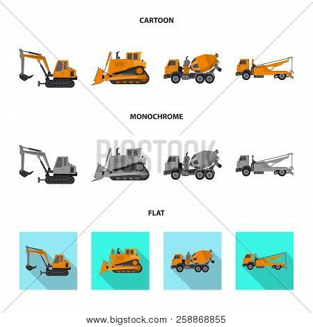 Vector Illustration Of Build And Construction Symbol. Collection Of Build And Machinery Stock Vector