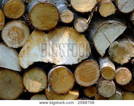 Fire Wood Close Up