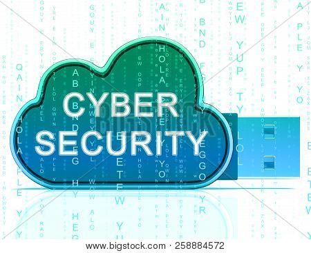Cybersecurity Technology Hightech Security Guard 3D Rendering