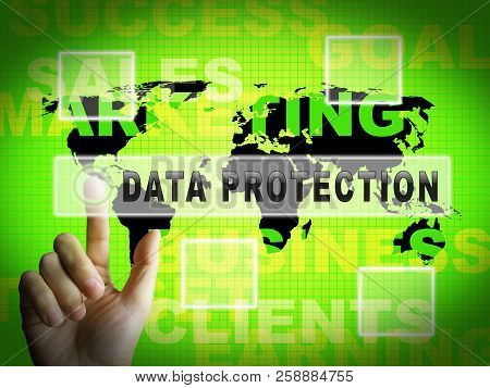 Data Protection Bill Internet Privacy 3D Illustration