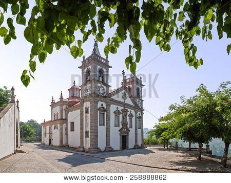 Our lady of Porto De Ave baroque sanctuary in Povoa de Lanhoso, Portugal.