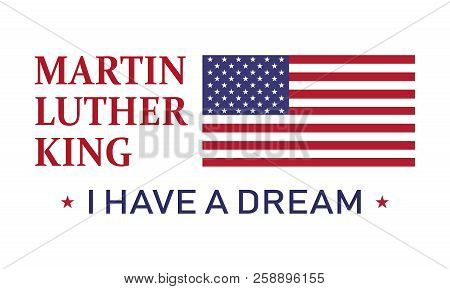 Martin Luther King Day, I Have A Dream , Vector Icon Illustration .
