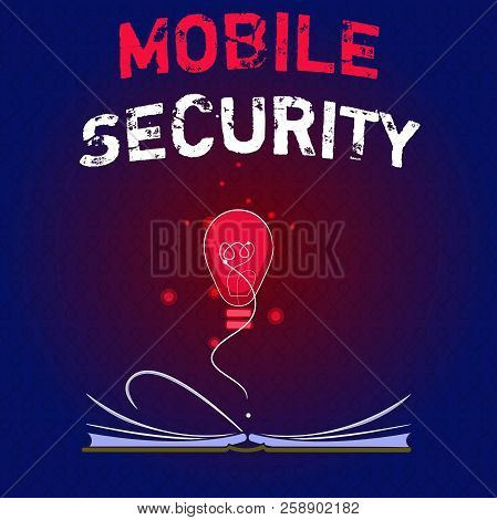 Writing Note Showing Mobile Security. Business Photo Showcasing Protection Of Mobile Phone From Thre